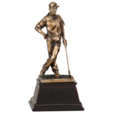 7S3301 Bronze Female Golfer Resin Award 9""