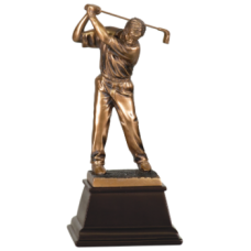 7S3302 Bronze Male Golfer Resin Award 9""