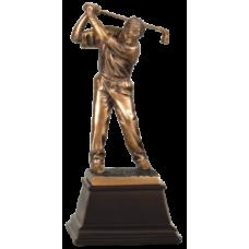 """7S3302 Bronze Male Golfer Resin Award 9"""""""