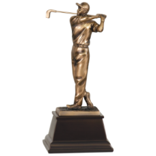 7S3303 Bronze Male Golfer Resin Award 9 1/2""