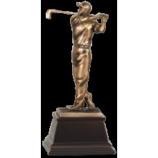 """7S3303 Bronze Male Golfer Resin Award 9 1/2"""""""