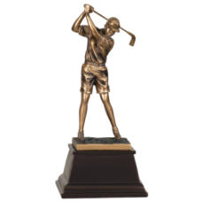 7S3304 Bronze Male Golfer Resin Award 9 1/2""
