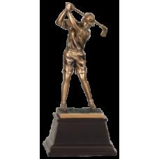 """7S3304 Bronze Male Golfer Resin Award 9 1/2"""""""
