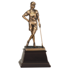 7S3305 Bronze Female Golfer Resin Award 9""