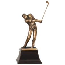7S3306 Bronze Male Golfer Resin Award 8 3/4""