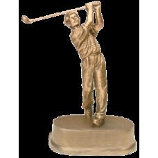 "JDS43 - 8 3/4"" Antique Gold Male Golf Resin"