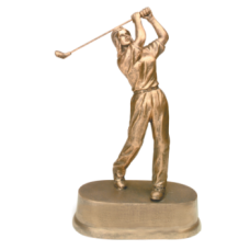 "JDS44 - 9"" Antique Gold Female Golf Resin"