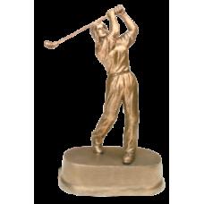 """JDS44 - 9"""" Antique Gold Female Golf Resin"""