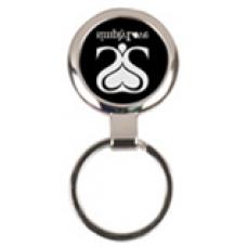 """GFT096 - 2 1/2"""" Laserable Round Keychain"""