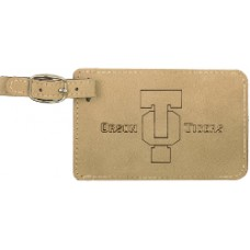 "GFT179 - 4 1/4"" x 2 3/4"" Laserable Leatherette Luggage Tag"