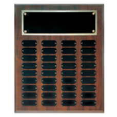 CPP36 Cherry Finish Perpetual Plaque with 36 Plates.