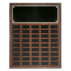 CPP45 Cherry Finish Perpetual Plaque with 45 Plates.