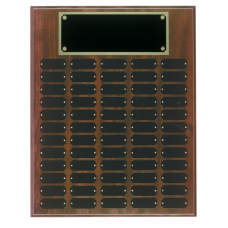 CPP60 Cherry Finish Perpetual Plaque with 60 Plates.