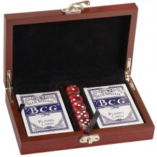 CRD01 Rosewood Finish Card & Dice Set