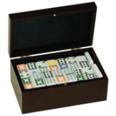 DOM01 Double Twelves Dominos Set in Black Gift Box