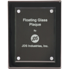 FPG2013 Large Black Piano Finish Plaque with Floating Jade Glass.