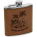 FSK615 6 oz. Light Brown Leatherette Flask.