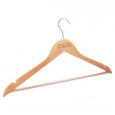 """GFT048 - 17 1/2"""" x 9"""" Solid Maple Clothes Hanger"""