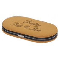 GFT050 - 4-Piece Tan Leather Manicure Gift Set
