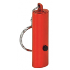 """GFT056 - 2"""" Red 1-LED Laserable Flashlight with Keychain"""