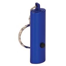 """GFT057 - 2"""" Blue 1-LED Laserable Flashlight with Keychain"""