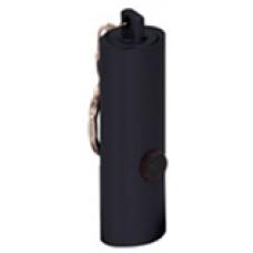 """GFT060 - 2 3/8"""" Black 3-LED Laserable Flashlight with Keychain"""