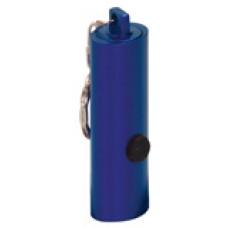 """GFT062 - 2 3/8"""" Blue 3-LED Laserable Flashlight with Keychain"""