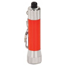 GFT066 - 2 3/4 inch Red 1-LED Laserable Flashlight with Keychain
