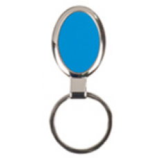 """GFT095 - 1 1/8"""" x 1 5/8"""" Blue Laserable Oval Keychain"""