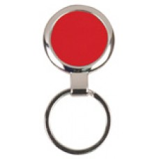 """GFT097 - 2 1/2"""" Red Laserable Round Keychain"""