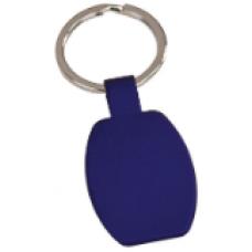 "GFT102 - 1 5/8"" Blue Laserable Rectangle Keychain"