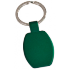 """GFT103 - 1 5/8"""" Green Laserable Rectangle Keychain"""