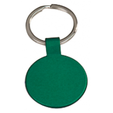 "GFT113 - 1 1/2"" Green Laserable Round Keychain"