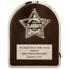 HER104 Sheriff Hero Plaque with Chrome Star.