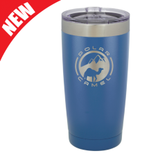 LTM924 20 oz. Blue Polar Camel Stainless Steel Vacuum Insulated Tumbler