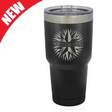 LTM932A 30 oz. Black Polar Camel Stainless Steel Vacuum Insulated Tumbler