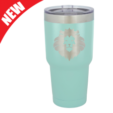 LTM936 30 oz. Teal Polar Camel Stainless Steel Vacuum Insulated Tumbler