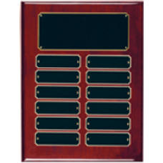 RPP12 Rosewood Piano Finish Perpetual Plaque with 12 Plates.