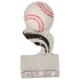 SP151  Baseball Black Splash Sculptured Ice Awards