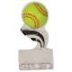 SP154  Softball Black Splash Sculptured Ice Awards