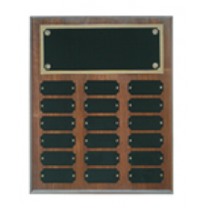 WPP18 Genuine Walnut Step Edge Perpetual Plaque with 18 Plates.