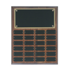 WPP24 Genuine Walnut Step Edge Perpetual Plaque with 24 Plates.