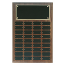 WPP36 Genuine Walnut Step Edge Perpetual Plaque with 36 Plates.