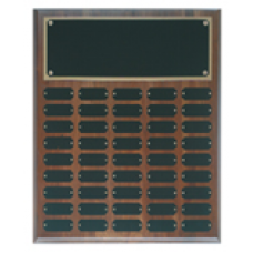 WPP45 Genuine Walnut Step Edge Perpetual Plaque with 45 Plates.
