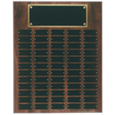 WPP60 Genuine Walnut Step Edge Perpetual Plaque with 60 Plates.
