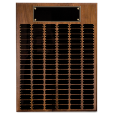 WPP72 Genuine Walnut Step Edge Perpetual Plaque with 72 Plates.