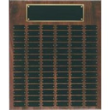 WPP102 Genuine Walnut Step Edge Perpetual Plaque with 102 Plates.