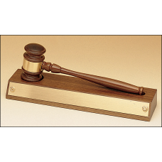 735 Removable gavel on an American walnut base.