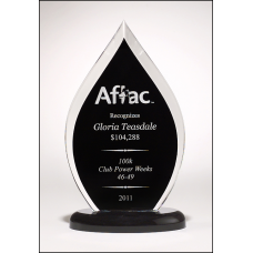 A6820 Flame Series clear acrylic award with black silk screened back.
