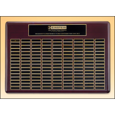 P4500 Roster Series perpetual plaque with rosewood piano-finish.